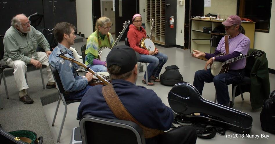 Banjo Workshop from 2013 - photo by Nancy Bay
