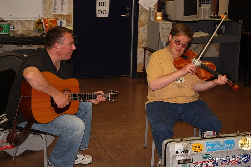 Fiddle Workshop with Michael Cleveland & Tom Adams at Bluegrass from the Forest