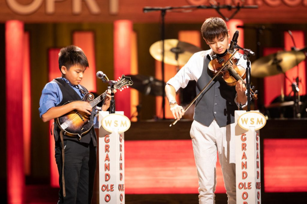 Miles Quale (fiddle) & Teo Quale (mando) nominees for IBMA Momentum Instrumentalists of the Year
