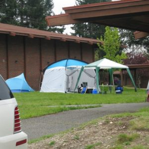 Plenty of space for tents